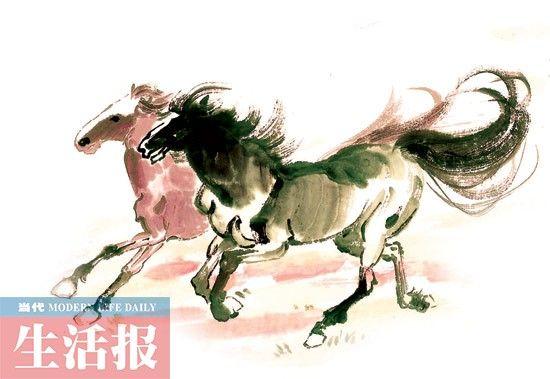 中国画,马。