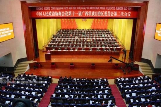 15日,自治区政协十一届二次会议在南宁开幕,会议为期5天。广西新闻网记者 胡雁 摄