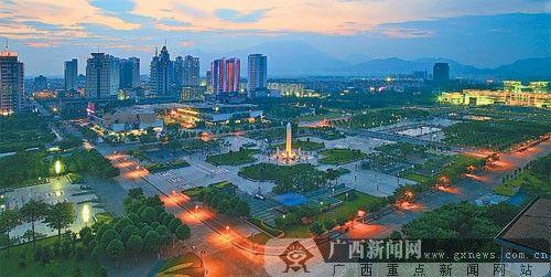 贵港城市夜景