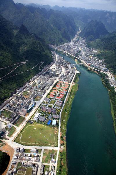俯瞰天峨县。
