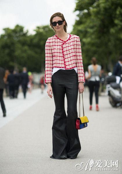 Chanel糖果色链条包