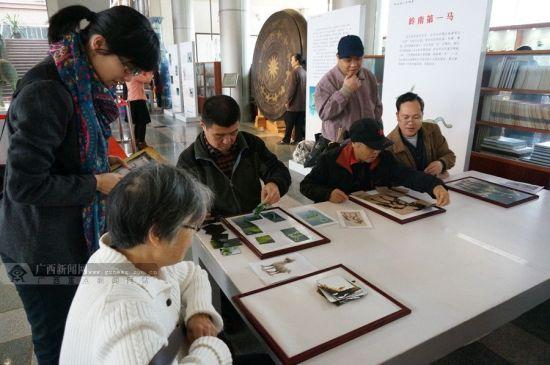 市民在玩拼马图游戏。广西新闻网记者 邓昶摄