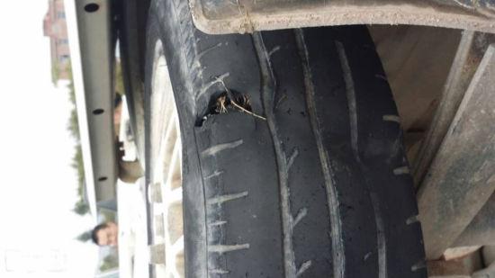 图为事故中受损车辆。