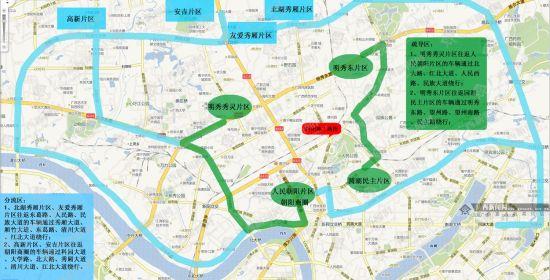绕行方案示意图。图片来源:广西新闻网