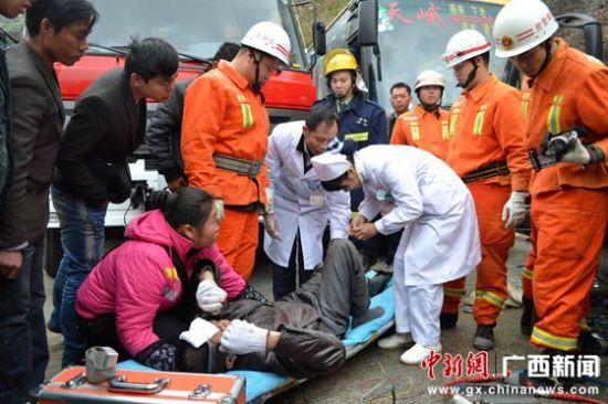 图为事故现场。图片来源:中国新闻网