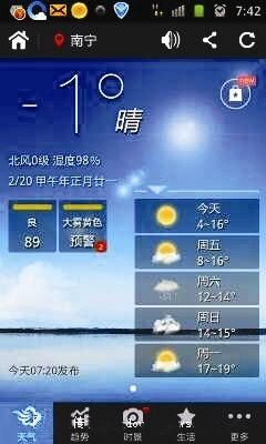 网友昨日晒手机上标注的气温