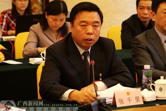 全国人大代表、南宁铁路局局长张千里。广西新闻网记者 刘斐 摄