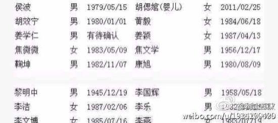 鞠坤的名字也在失联人员名单之列