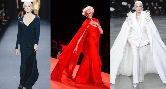 世界上最年长模特——霸气优雅依然