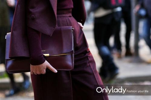 神秘优雅的紫色手包