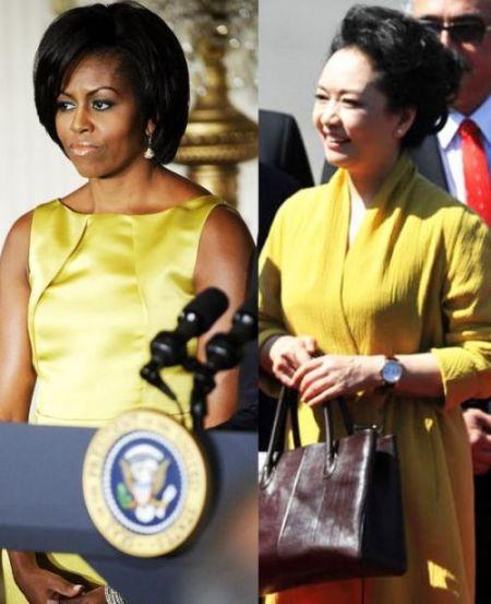 亮黄色衣着对比
