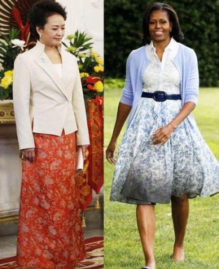 印花裙装对比