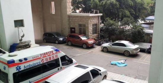 事故现场。 南国早报记者 周如雨 摄