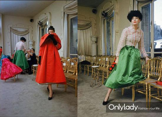 1954年Balenciaga先生的时装发布会作品