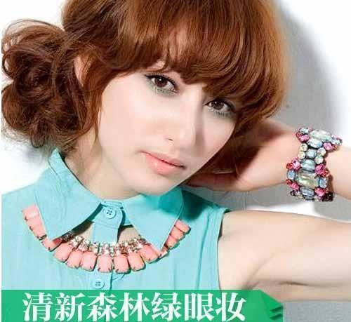 Style1:清新森林绿眼妆