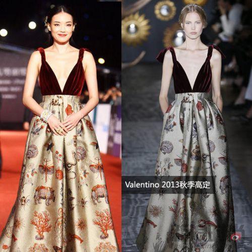 Valentino2013秋季高定复古礼裙