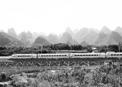 衡柳铁路途经鹿寨县中渡镇