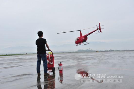桂林通用直升机成功试航