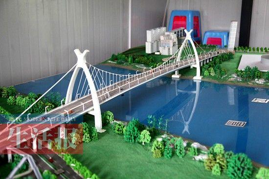 英华大桥模型。