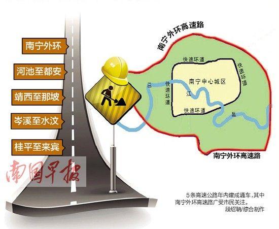 南宁外环高速路。图片来源:南国早报