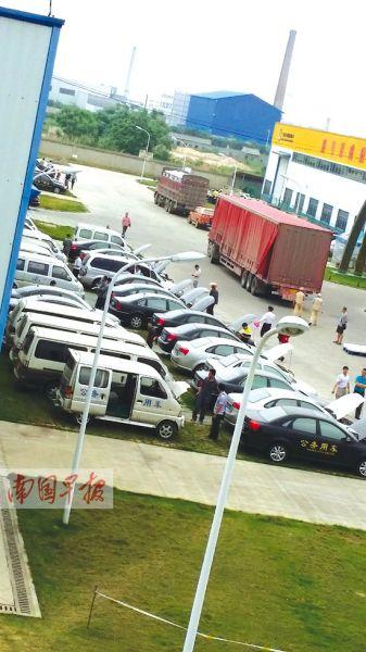 在一块空地上摆放着即将拍卖的公务用车。记者 宋甲子 摄