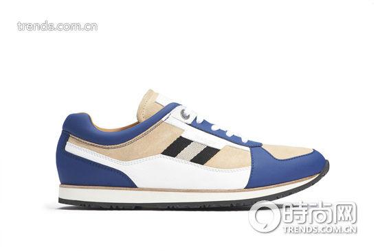 Bally 2014春夏最新款蓝白拼色运动鞋