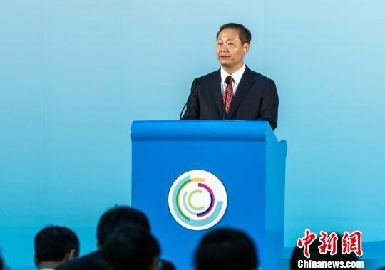 中共广西壮族自治区委员会书记彭清华在第八届泛北部湾经济合作论坛上致欢迎辞。 蒋雪林 摄