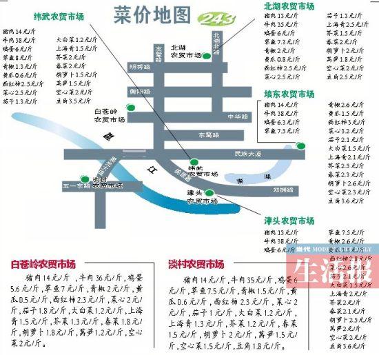 南宁菜价地图