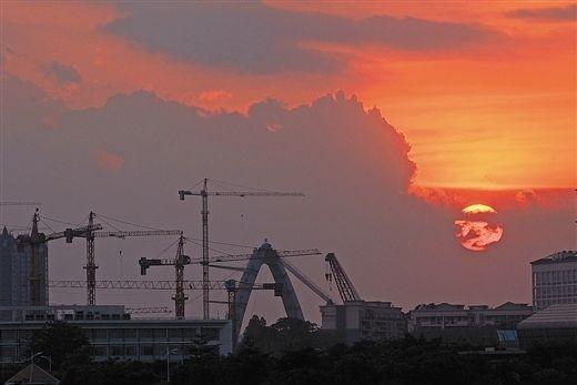南宁市掀起了城市建设的高潮