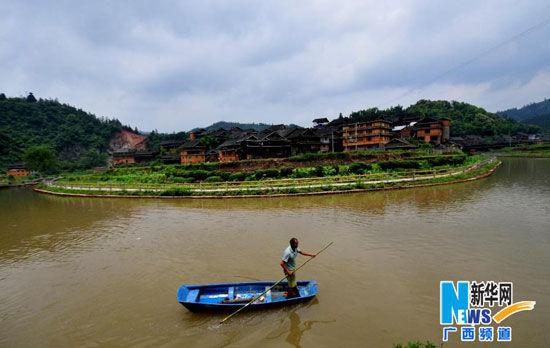 这是5月31日拍摄的广西三江侗族自治县程阳八寨的马安寨