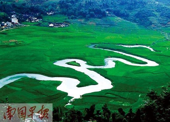 盘阳河源头之一的命河,是巴马寿乡的标志性景观。 资料图片