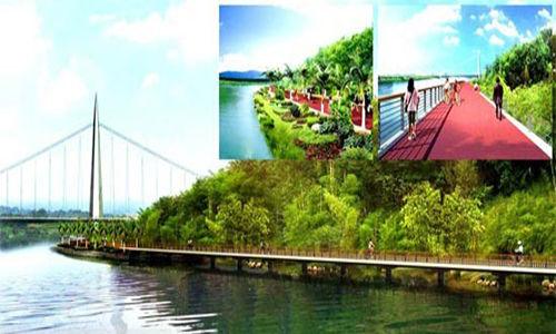 柳州环江滨水自行车道构想图 图片来源:广西新闻网