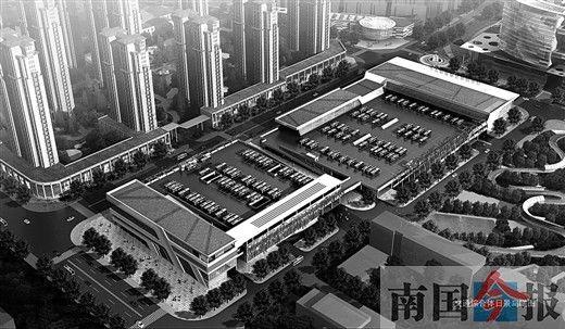 河东综合交通枢纽中心效果图。
