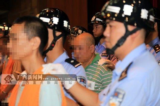 涉案罪犯因贩卖毒品海洛因数额巨大被判刑。广西新闻网通讯员 费文斌摄