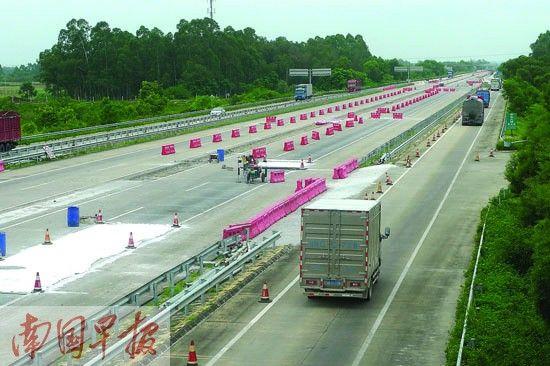 到今年8月,南北高速将进入全段施工状态。 记者 苏华摄