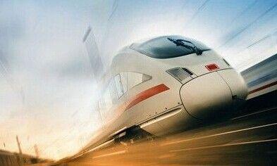 行驶中的高铁 图源:新浪图库
