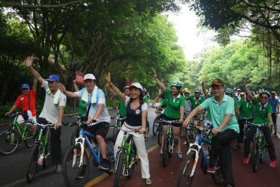绿道骑行正式开始