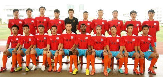桂林赛区冠军天龙·荔浦永诚汽车城队集体照。球队供图