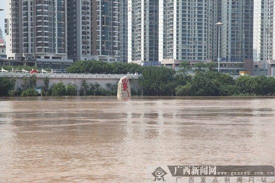 邕江水位还在持续上涨。广西新闻网通讯员 黄文彩 摄