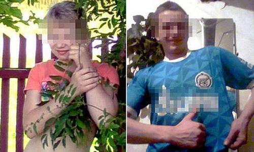 上吊身亡的俄罗斯小情侣(图片来自社交媒体网站)