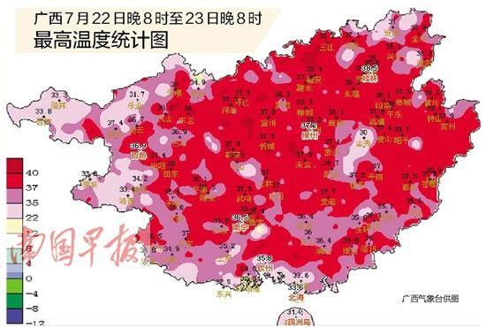 广西最高温度统计图
