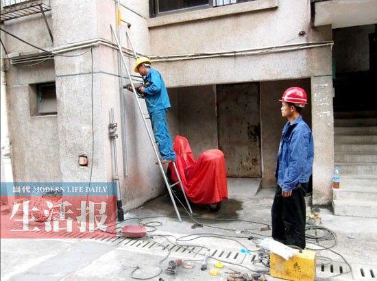 南宁中燃在老旧生活区进行天然气改造。
