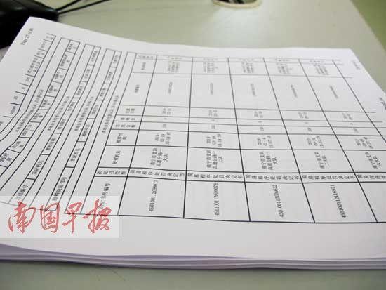 玉某驾驶证里的交通违法处理记录信息多达456条,用A4纸打印出来有24张。李斐振 摄