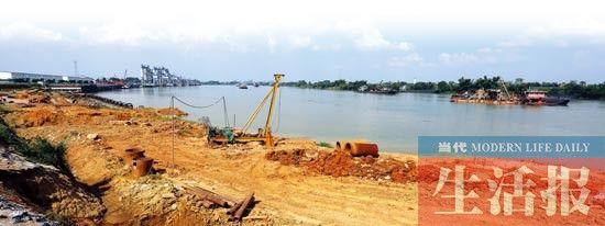正在动工建设中的贵港(台湾)产业园港区