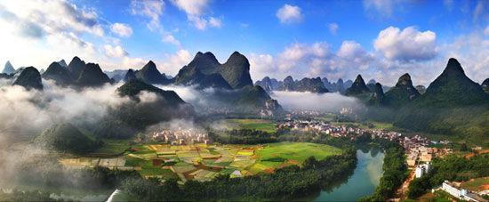 祥贝易水湾田园风光 图片来源:广西民族村