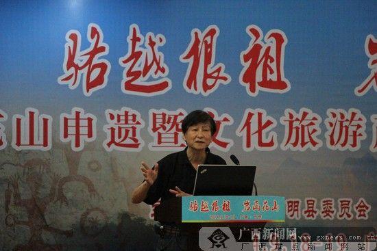 广西传统文化研究会总顾问陈学璞发言。 广西新闻网实习生 任健 摄