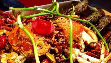 香辣蟹大盆鱼