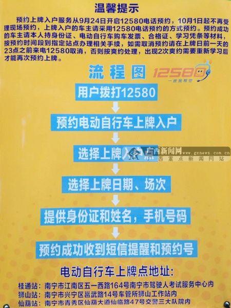 9月24日起,需上牌入户的车主可拨打12580预约上牌。广西新闻网记者 陈仁义摄