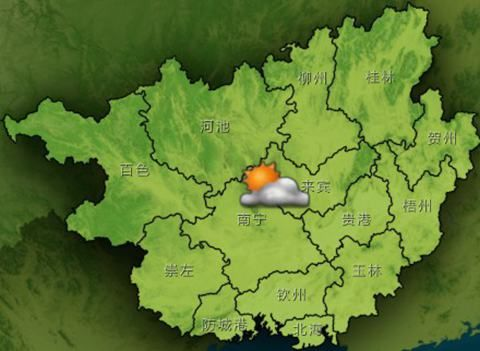 6日20时至7日20时天气预报示意图
