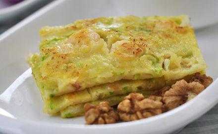 【西葫芦虾仁早餐饼】